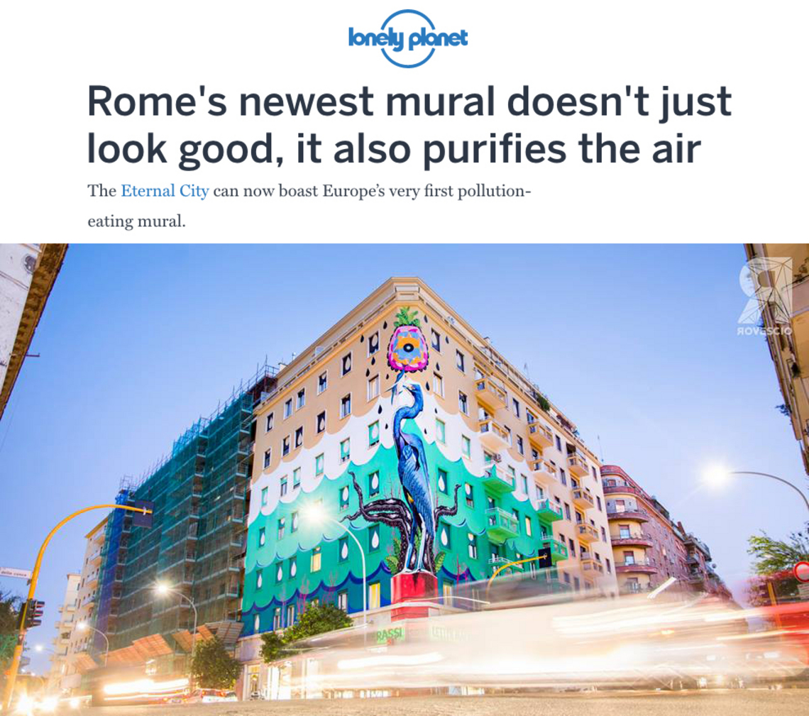 LONELY-PLANET Rome's newest mural doesn't just look good, it also purifies the air